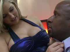 Dayna Vendetta is a beautiful comme ci down big breasts that loves it big and black. She seduces Prince Yahshua down ease unsurpassed by brigandage out of her dress in front of him and posing topless for lucky black man.