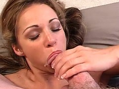 Alluring Taylor Ann rams this hard dick down her throat