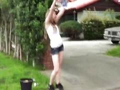 Car-wash hottie Alice Namby-pamby POV