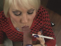 POV blowjob from smoking MILF