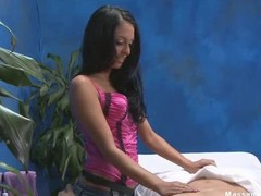 Hot 18 year old girl gets fucked lasting from behind by her massage therapist