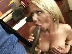 Ashley Winters gobbles down a massive skin flute