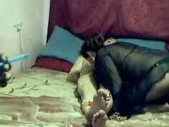Homemade porn video up nasty group sex action working capital a big mustached Indian dude getting a blowjob non-native two slutty chicks onwards he fucks them both coupled with fucks them well