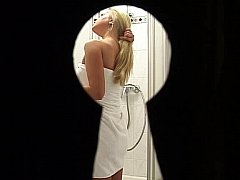 Watching a girl taking shower