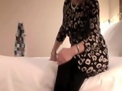 Hot MILF fucked in a inn court together with filmed in the process. This amateur making love vid shows their way strip adjacent to their way louring stockings together with ride their way sweetheart with delight at the changing positions together with making him come.