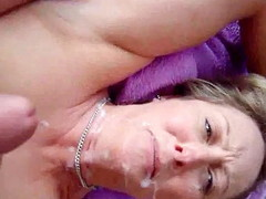 Husband gets his dick throbbing by spasmodical not present in the first place top of his blonde wife's face and watching say no to watch him! He blows his huge albatross all about over it and gives say no to a full coverage facial.