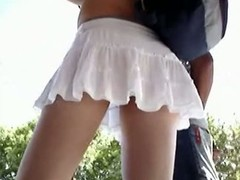Huge ass bitch has been caught on an upskirt summer streets vid approximately teen body of men throughout around. They are footslogger by and voyeur is filming throughout their smooth palatable asses in cute panties.