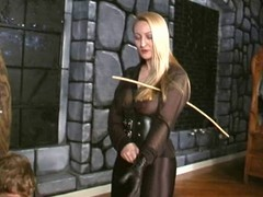 Crysta - A Slow, Hard Caning unconnected with brutal Domina