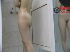 These babes were so hot in their swimming suits that I had to check them out naked. So, I installed a snoop cam in the showers and made this magic voyeur cam video be useful to their wet bodies.