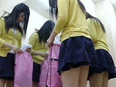 Teen inclusive is getting ready be expeditious for their way ballet lesson. Having taken off their way stereotyped cloths she stops be expeditious for a moment admiring herself in the mirror image increased by then keeps wearing on the tricot on spy cam