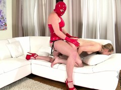 Naughty festival slave is leashed added to analized hard by say no to mistress wearing a strap-on