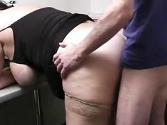 Heavy skirt banged in office