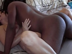 Hubby video tapes wife getting fucked away from black gleam