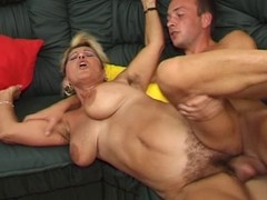 German hairy mature is piping hot she fucks and spew