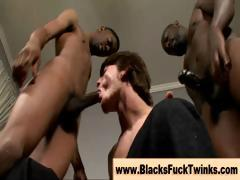 Powered cock loving twink give blowjobs
