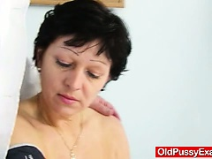 Unshaven housewife Eva visits gyno jetty fuck hole inspection
