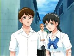 3d anime schoolboy stealing his dream girl undies