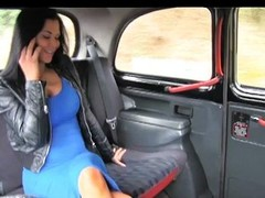 Exotic stunner in office clandestinely taxi fun