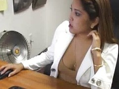 Busty Office Girl Blowjobs Hard Cock