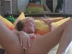 Tiny Tit Pussy Pierced Blonde Amateur Babe Masturbation Solo
