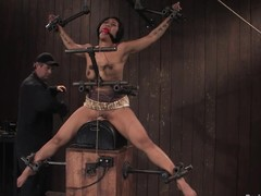 Blue DragonLily enjoys the action there BDSM video
