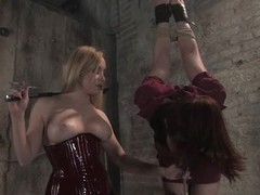 Bound Triad Post gets say no to vagina coupled with arse torn up off out of one's mind Aiden Starr