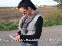 Highway blowjob from a succulent chick Zuzana