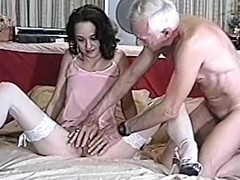 Gorgeous milf is doing a great job on his penis