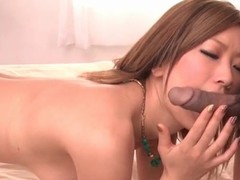 Racy Japanese cunt fingered lustily