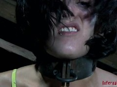 Masked beauty with in the buff cunt acquires wild flogging