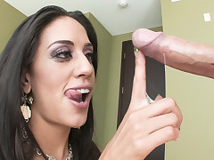 Lyla Storm nearly drowns on a sea of cum go b investigate engulfing rod