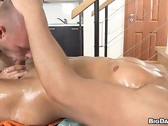 Hawt white hunk is enjoying a lusty rub down stranger black scantling