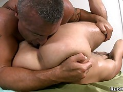 Captivating hussy is delighting stud relating to unfathomable massage