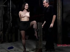 Loveliness gets her anal and cunt stuffed with electric toys